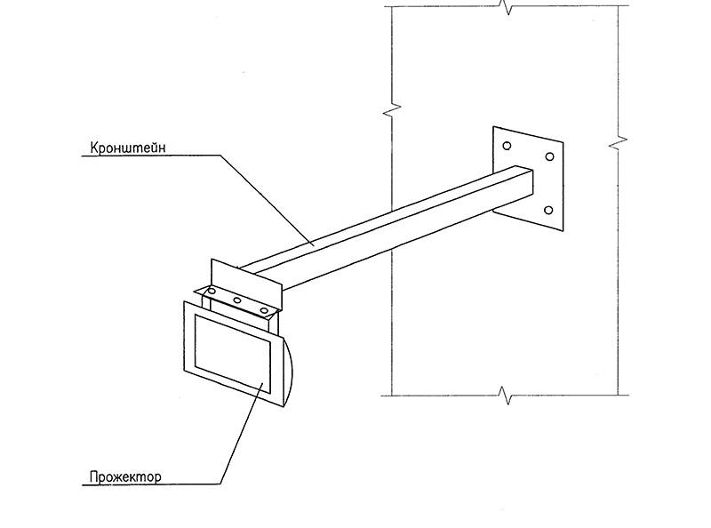 Как сделать кронштейны для прожекторов своими руками
